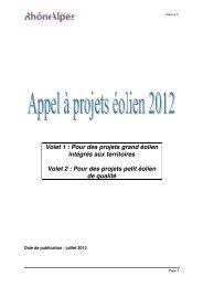 Annexe 6 - Appel à projets eolien v3 - Espace INFO->ÉNERGIE du ...