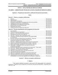 PARTE II – EXPLOTADORES DE SERVICIOS AEREOS ... - ICAO