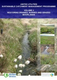 Restoring Drained, Burned and Grazed Moorlands - United Utilities