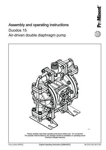 Assembly and operating instructions - Duodos 15 Air-driven