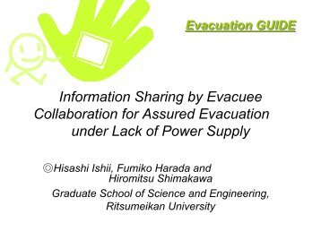 Information Sharing by Evacuee Collaboration for Assured ...