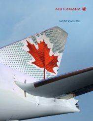 rapport annuel 2009 rapport annuel 2009 - Air Canada