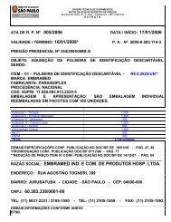 RAZÃO SOCIAL: EMBRAMED IND. E COM. DE PRODUTOS HOSP ...