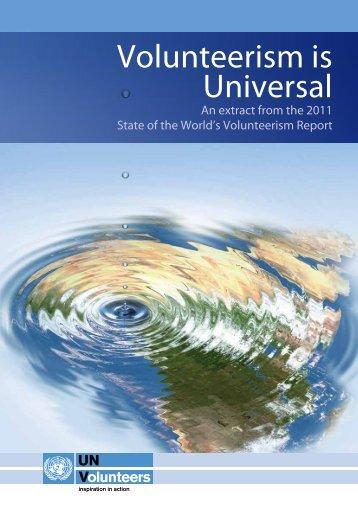 SWVR Booklet: Volunteerism is Universal - United Nations Volunteers