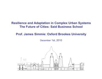 Resilience and Adaptation in Complex Urban Systems p p y The ...