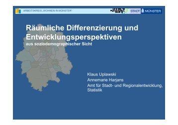 Räumliche Differenzierung und ... - Stadt Münster