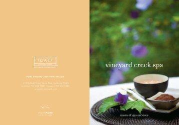 vineyard creek spa - Hyatt Vineyard Creek Hotel and Spa