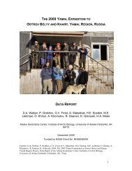 THE 2009 YAMAL EXPEDITION TO OSTROV BELYY AND KHARP ...