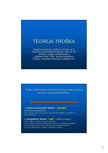 TEORIJA TROŠKA