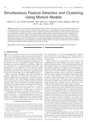 Simultaneous Feature Selection and Clustering Using Mixture Models