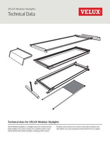 Technical Data - VELUX modulaire lichtstraten