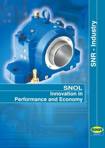 SNOL oil-lubricated plummer block for rolling bearings