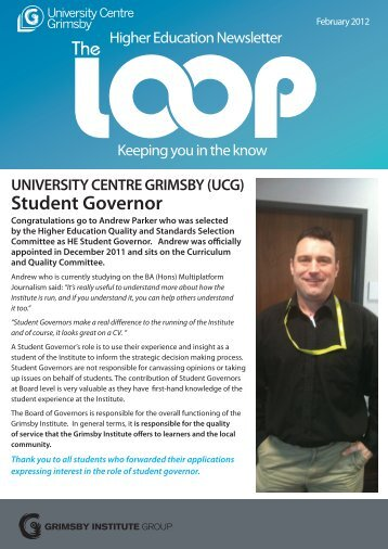Student Governor - Grimsby Institute of Further & Higher Education