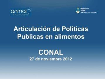 Articulación de Politicas Publicas en alimentos - CONAL