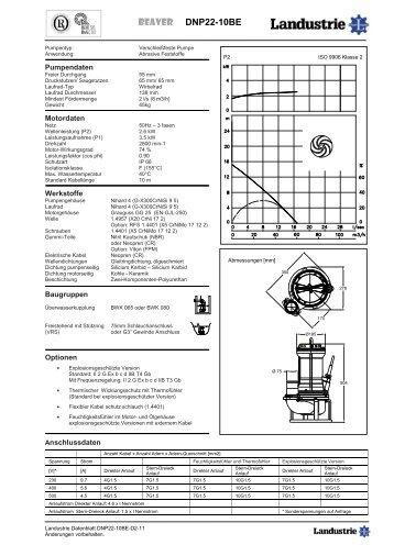 Pumpdaten Typ DNP22 - Landustrie