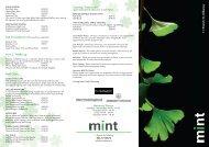 download current pricelist - Mint Health & Beauty Kilkenny