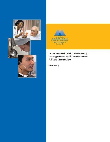 Occupational health and safety management audit instruments: A ...