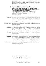 Associativismo transnacional: as formas de organização da ... - Acidi