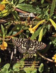 ANNUAL REPORT - Hidden Villa