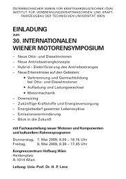 30. internationalen wiener motorensymposium - Österreichischer ...