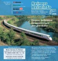 Rainer Reisen Flyer 2006.indd - Reise-Service G. Reiner, Friedberg