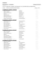 Der Spielplan der Bezirksliga 10