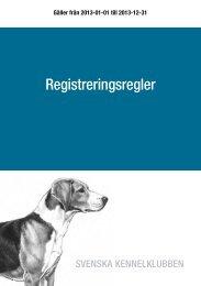 Registreringsregler - Svenska Kennelklubben