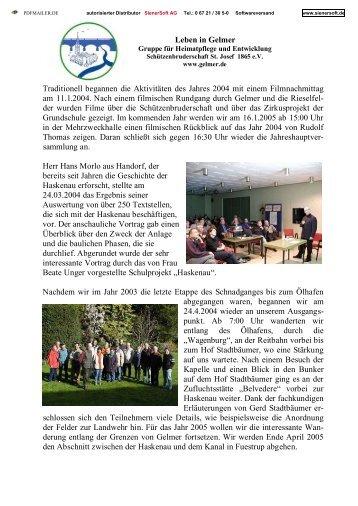 Jahresrückblick 2004 als PDF-Datei - Gelmer