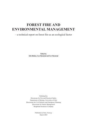 to fires - Direktoratet for samfunnssikkerhet og beredskap
