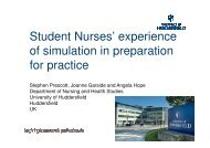 Student Nurses' experience of simulation in preparation for practice