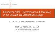 Präsentation - Gesundheitswirtschaft Hannover e.V.