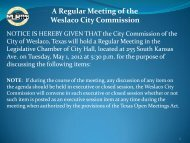 A Regular Meeting of the Weslaco City Commission - City of Weslaco