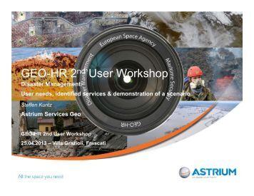 GEO-HR 2nd User Workshop - Data User Element