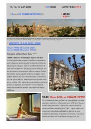 Programme Art Rome Fiume - Connaissance de l'Art Contemporain