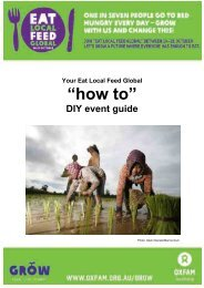 "Your Eat Local Feed Global ""how to"" DIY event guide - Oxfam Australia"