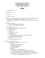 April 8, 2008 AGENDA - School District of Waupaca