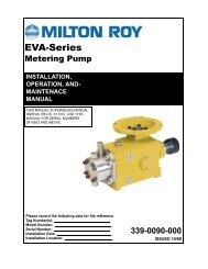 EVA Series Installation Operation and Maintenance Manual