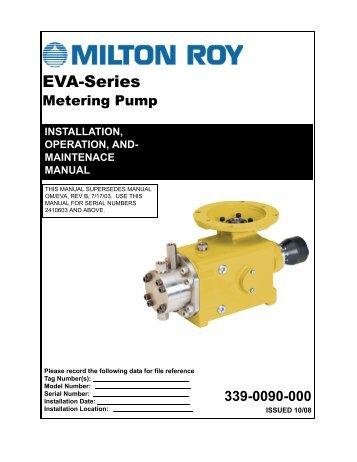 EVA Series Installation Operation and Maintenance Manual