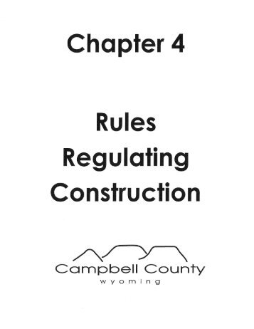 Rules Regulating Construction - Campbell County