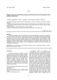Mode of action of antimicrobial proteins, pore-forming toxins and ...