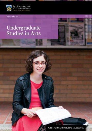Undergraduate Studies in Arts - Faculty of Arts, Humanities and ...