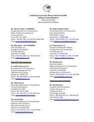 SCAN Advisory Council - American Concrete Pavement Association