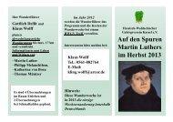 Auf den Spuren Martin Luthers im Herbst 2013 - Hessisch ...