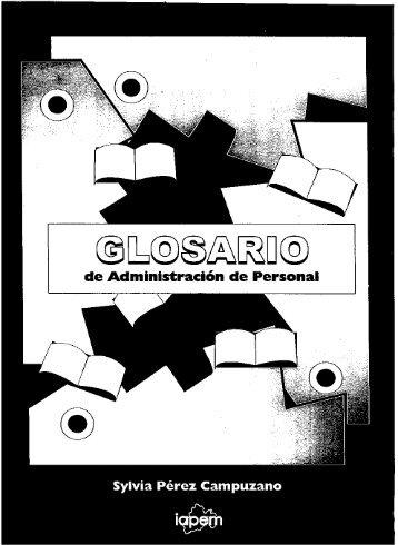 1999 063 Glosario de Administracion de Personal