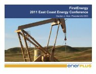 FirstEnergy 2011 East Coast Energy Conference - Enerplus