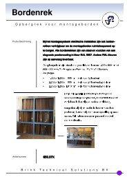 Folder Opbergsysteem montageborden - Brink Techniek