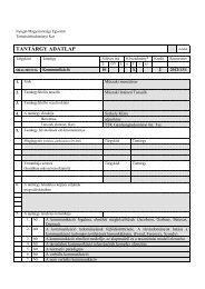 Kommunikáció_SBALME5336 - NYME Természettudományi Kar