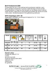 Se produktblad - Special Maskiner A/S