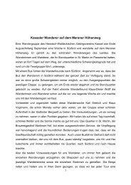 Kasseler Wanderer auf dem Meraner Höhenweg - Hessisch ...