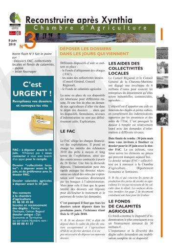 Xynthia magazines - Chambre d agriculture poitou charente ...